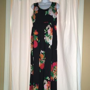 Piphany Floral Maxi Dress Large GUC